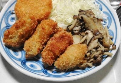 牡蠣フライ&クリームコロッケ