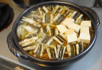 穴子と豆腐