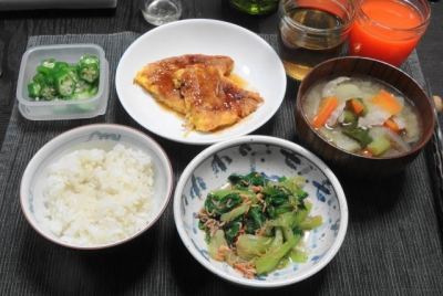 豚汁&芙蓉蟹 和中折衷ご飯