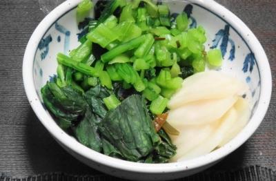 かぶ と かぶ菜のカンタン塩麹漬け