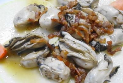 牡蠣のベーコン焼き