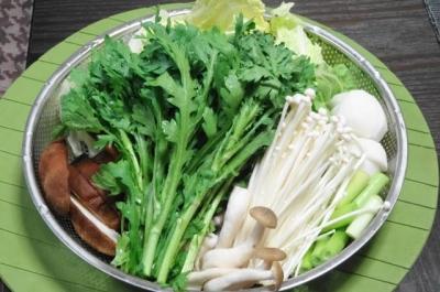 湯豆腐の野菜