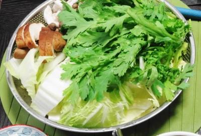 水炊きの鍋野菜一式