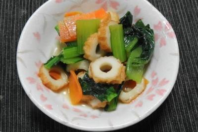 小松菜と竹輪の炊き合わせ