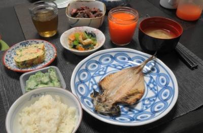 アジの開きディナー