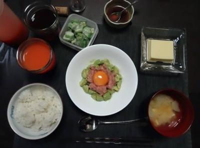 喉の通りの良い夕食
