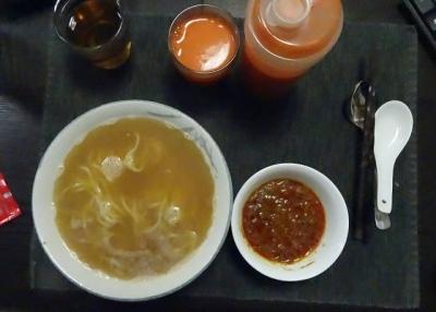 キーマ+担々麺のブランチ