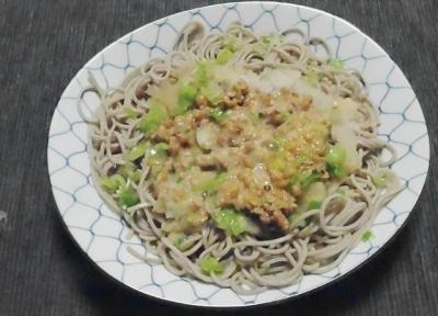 納豆蕎麦の食べ方