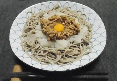 納豆蕎麦の基本トッピング