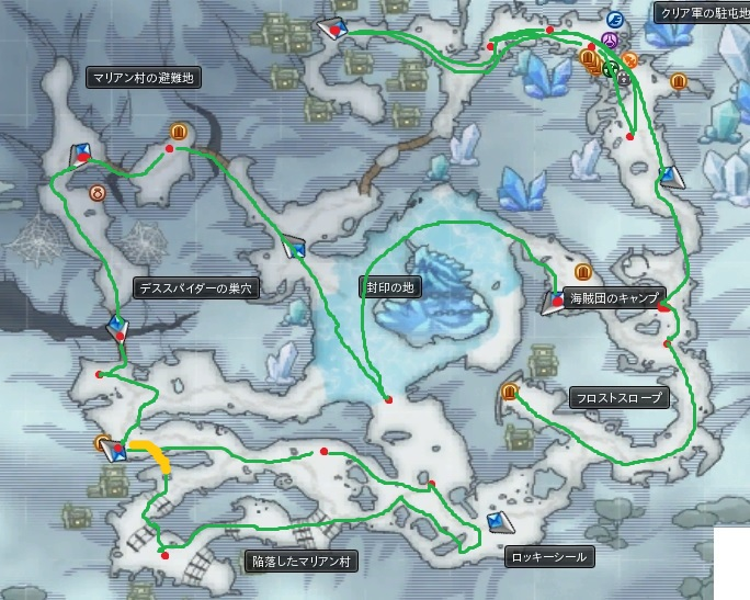 大雪嶺MAP