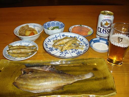 鱒やの晩飯