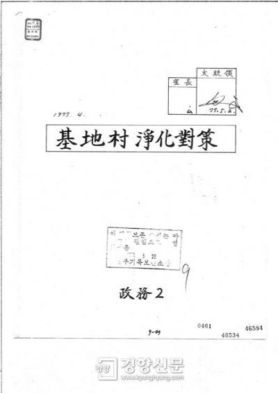 基地村 朴正煕 署名