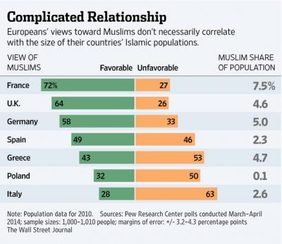 欧州国民のイスラムに対する評価 イスラム 排外主義 極右政党