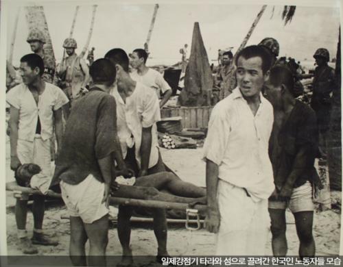 タラワ島 強制連行 中央日報