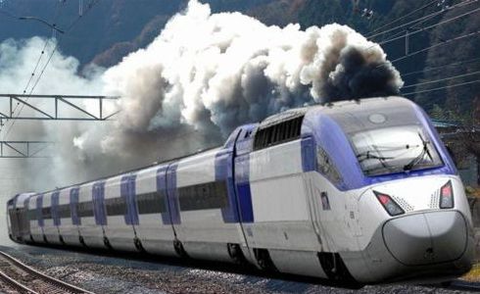 KTX 変圧器発火 蒸気機関車か!