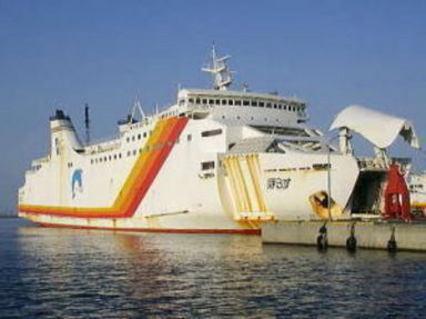 韓国初 クルーズ船 東日本カーフェリーの「HORUS」