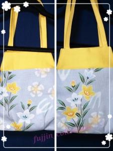 鎌倉スワニー スィートバッグ 黄色桔梗