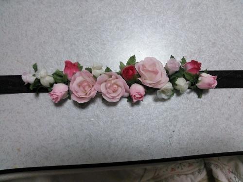 handmade hair ribbon rose カチューム ヘアバンド ballet バレエ バレエ用品 手作り かわいい