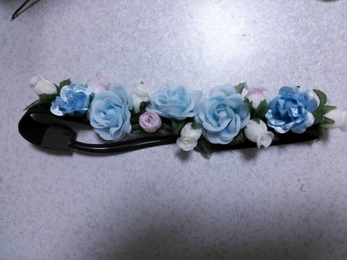 handmade hair ribbon rose カチューム ヘアバンド 3ballet バレエ バレエ用品 手作り かわいい
