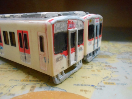 改造プラレール 近鉄の通勤型(2050系)を作る!その3