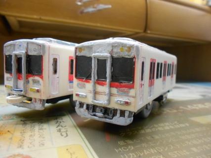 改造プラレール 近鉄の通勤型(2050系)を作る!その4