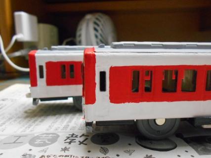 改造プラレール 近鉄の通勤型(2050系)を作る!その5