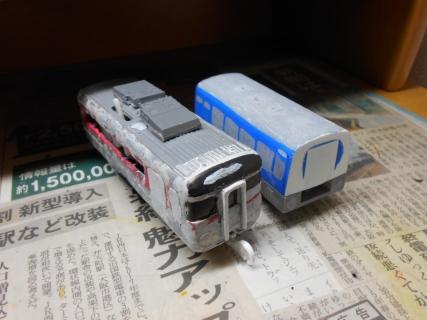 改造プラレールJR四国キハ185&キクハ35