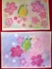 桜とメジロイラスト