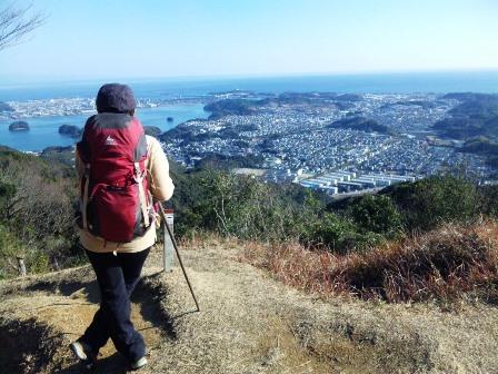 SH3H2620鷲尾山より桂浜方向