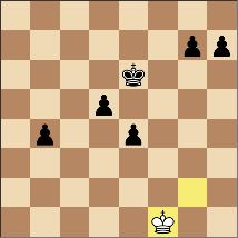 5/22のゲーム。裸キング対ポーン5個