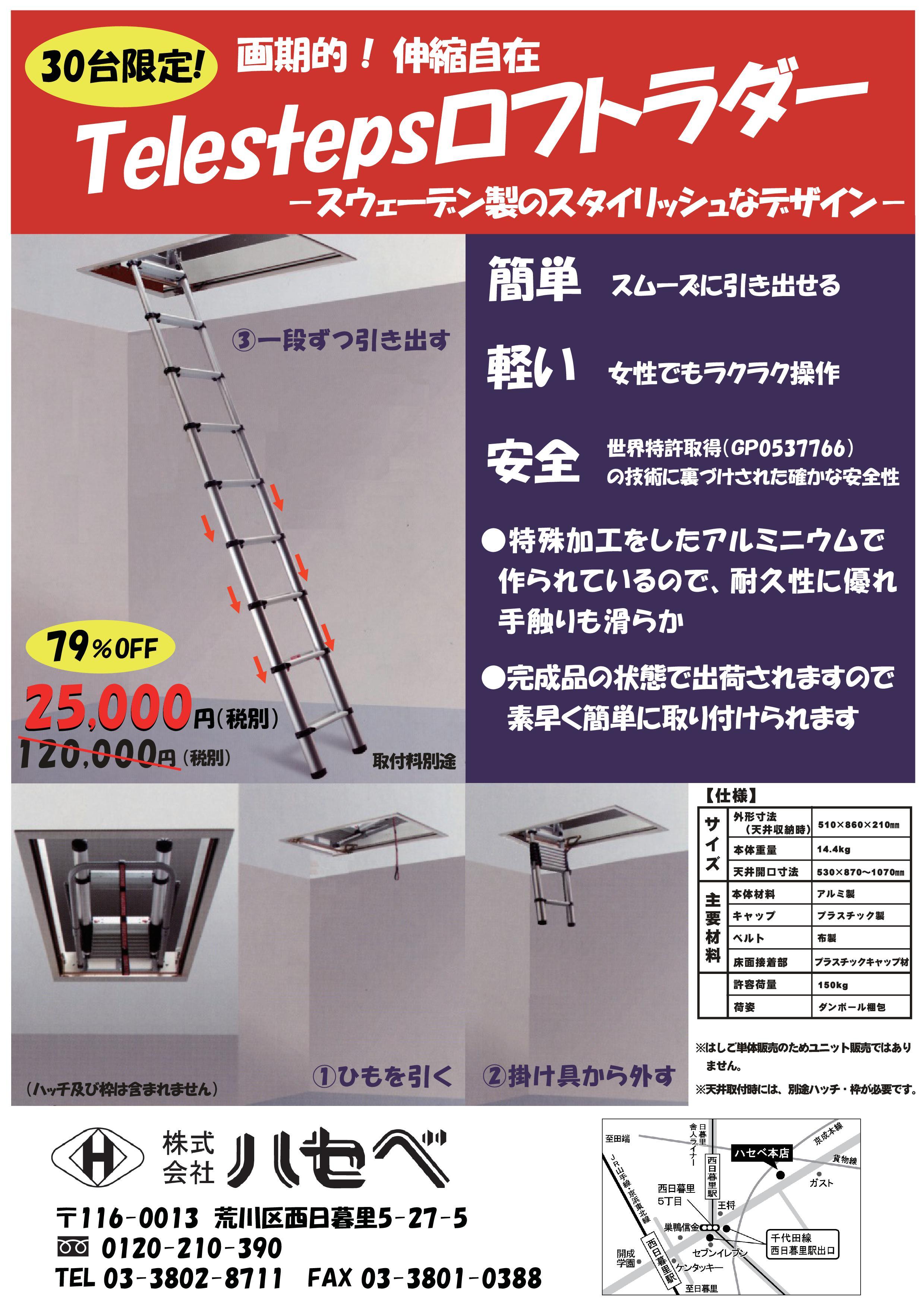 20150311テレステップスロフトラダー