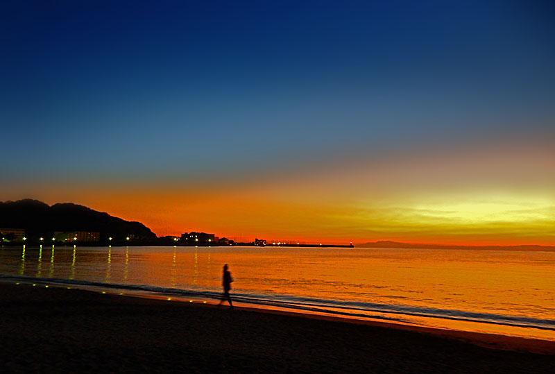 150104逗子海岸夕景