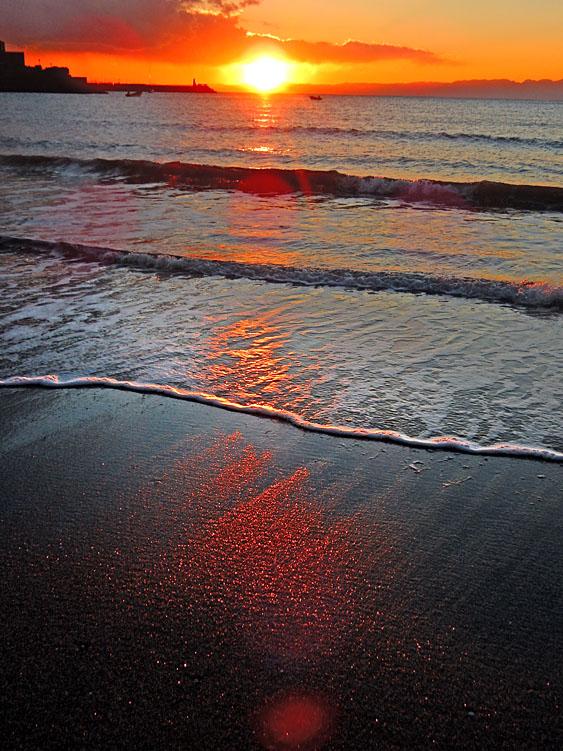 150117逗子海岸夕景1+