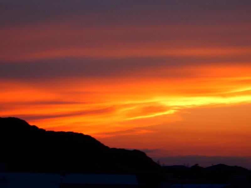 6月10日の夕焼け1