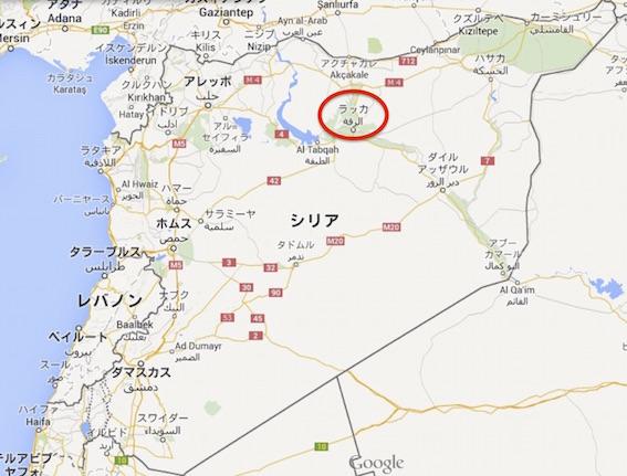 シリア ラッカ図