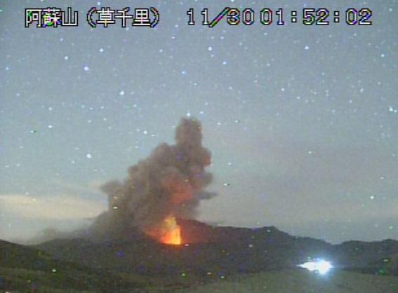 阿蘇山マグマ噴火