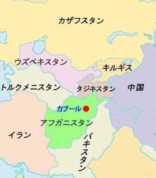 アフガニスタンとその周辺国 図