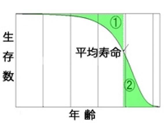 平均寿命の図