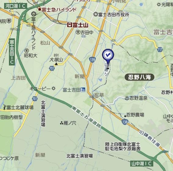 新屋山神社 地図