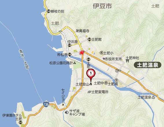土肥温泉地図