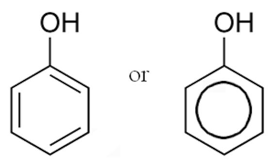 フェノール 分子構造