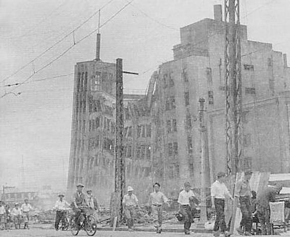 福井地震直後の大和百貨店ビル