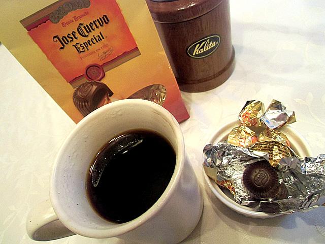 濃いめのコーヒーとともに