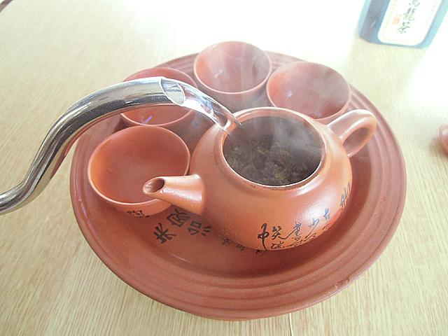 1-熱湯を注ぐ