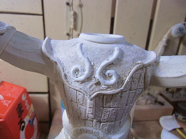 2-細粘土で盛りました