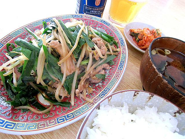 肉ニラ定食