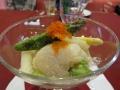 ホタテとアスパラガスの前菜
