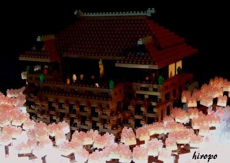 桜の中のnano清水寺(夜景)B450