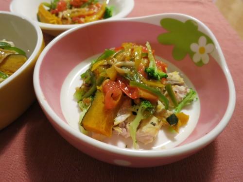 夜ご飯 胸肉のあんかけ野菜