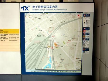 TX 駅周辺案内図